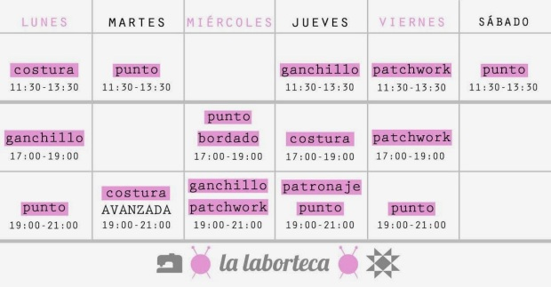 horario enero 2014 la laboroteca